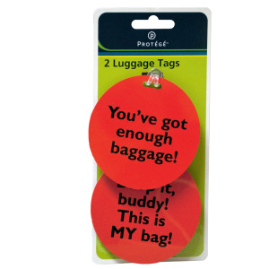 36  Pieces Per Pack Of  Assorted Fun Phrase Luggage Tags  ][Wholesales Purchase|Hoodmat.Com