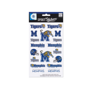 24  Pieces Per Pack Of  University Of Memphis Tigers Spirit Stickers ][Wholesales Purchase Hoodmat.Com