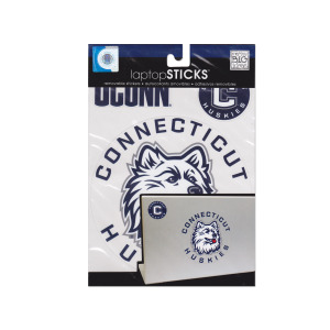 24  Pieces Per Pack Of  Connecticut Huskies Removable Laptop Stickers ][Wholesales Purchase Hoodmat.Com