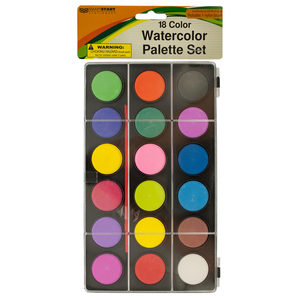 12 Pieces Per Pack Of Watercolor Paint Palette Set With Brush ][Wholesales Purchase Hoodmat.Com