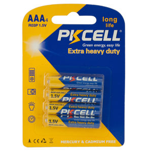 24 Pieces Per Pack Of Pkcell Heavy Duty Aaa Batteries ][Wholesales Purchase|Hoodmat.Com