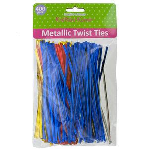 20 Pieces Per Pack Of Long Metallic Craft Twist Ties Set][Wholesales Purchase Hoodmat.Com