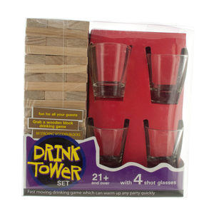 1 Pieces Per Pack Of Drink Tower Wooden Block Drinking Game ][wholesales purchase hoodmat.com
