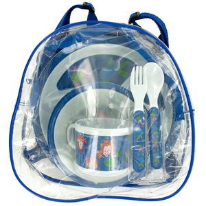 8 Pieces Per Pack Of Mini Clear Backpack with Mermaid Tableware ][wholesales purchase|hoodmat.com