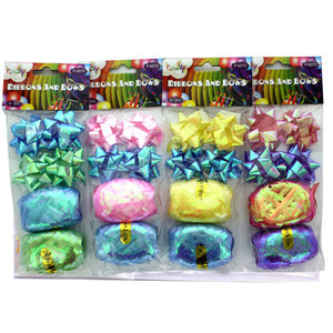 24  Pieces Per Pack Of  Metallic Ribbons and Bows ][wholesales purchase|hoodmat.com