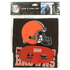 8  Pieces Per Pack Of  Cleveland Browns Cape &Amp; Mask Set ][Wholesales Purchase Hoodmat.Com
