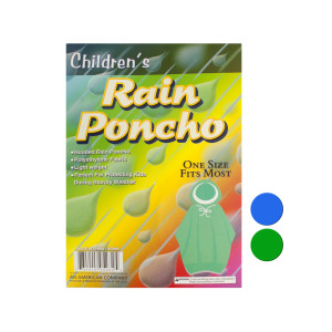 24 Pieces Per Pack Of Children's Hooded Rain Poncho ][wholesales purchase|hoodmat.com