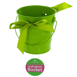 12 Pieces Per Pack Of Mini Metal Craft Bucket With Ribbon][Wholesales Purchase Hoodmat.Com