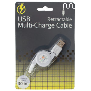 10 Pieces Per Pack Of Iphone Retractable Usb Multi-Charge Cable ][Wholesales Purchase|Hoodmat.Com