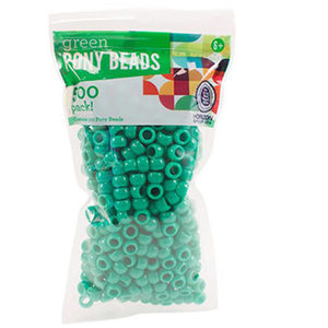 20 Pieces Per Pack Of Green Plastic Pony Beads ][Wholesales Purchase Hoodmat.Com
