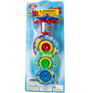 12 Pieces Per Pack Of 3 Layer Bouncing Top Spinner Toy ][Wholesales Purchase   Hoodmat.Com