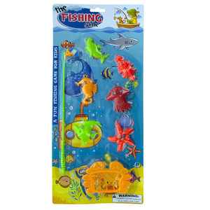 12 Pieces Per Pack Of Kids Fishing Game Set ][Wholesales Purchase   Hoodmat.Com