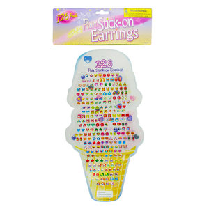 24 Pieces Per Pack Of Large Stick-On Earrings Set ][Wholesales Purchase   Hoodmat.Com