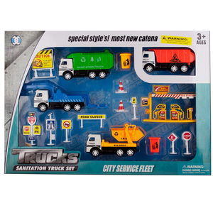 2 Pieces Per Pack Of Friction Powered City Work Truck Play Set ][Wholesales Purchase   Hoodmat.Com