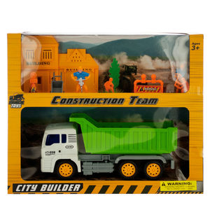 2 Pieces Per Pack Of Friction Powered Dump Truck &Amp; Construction Team Set ][Wholesales Purchase   Hoodmat.Com