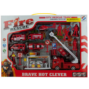 2 Pieces Per Pack Of Fire Rescue Team Play Set ][Wholesales Purchase   Hoodmat.Com