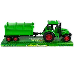 4 Pieces Per Pack Of Friction Powered Farm Tractor Trailer Truck ][Wholesales Purchase   Hoodmat.Com