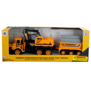 4 Pieces Per Pack Of Friction Powered Excavator Trailer Truck ][Wholesales Purchase   Hoodmat.Com