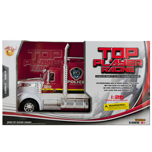 2 Pieces Per Pack Of Friction Powered Police Semi-Trailer Truck ][Wholesales Purchase   Hoodmat.Com