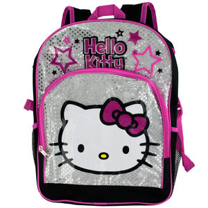 2 Pieces Per Pack Of Black & Pink Hello Kitty Stars Backpack ][wholesales purchase|hoodmat.com