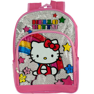 2 Pieces Per Pack Of Pink & Silver Hello Kitty Rainbow Backpack ][wholesales purchase|hoodmat.com