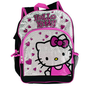 2 Pieces Per Pack Of Black & Pink Hello Kitty Hearts Backpack ][wholesales purchase|hoodmat.com