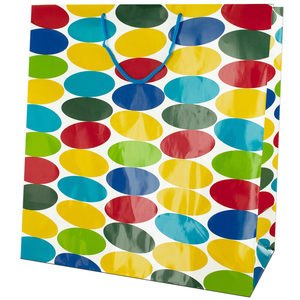 24  Pieces Per Pack Of  Extra Large Multi-Colored Dots Gift Bag ][wholesales purchase|hoodmat.com