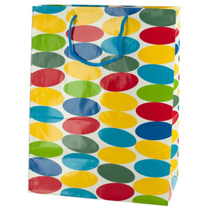 24  Pieces Per Pack Of  Medium Multi-Colored Dots Gift Bag ][wholesales purchase|hoodmat.com
