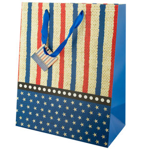 24  Pieces Per Pack Of  Large Stars & Stripes Gift Bag ][wholesales purchase|hoodmat.com