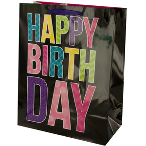 24  Pieces Per Pack Of  Black Birthday Gift Bag ][wholesales purchase|hoodmat.com