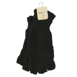 24 Pieces Per Pack Of Women's Black Sparkle Fingerless Knit Gloves ][wholesales purchase|hoodmat.com