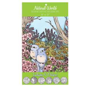 12 Pieces Per Pack Of Natural World Adult Coloring Poster Set ][Wholesales Purchase Hoodmat.Com