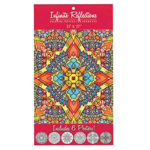12 Pieces Per Pack Of Infinite Reflections Adult Coloring Poster Set ][Wholesales Purchase Hoodmat.Com