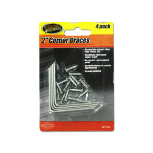 24 Pieces Per Pack Of Corner Braces with Mounting Hardware ][wholesales purchase|hoodmat.com