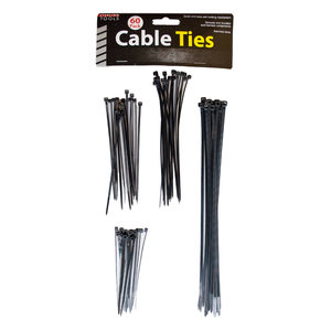 12 Pieces Per Pack Of Black Multipurpose Cable Ties ][wholesales purchase|hoodmat.com