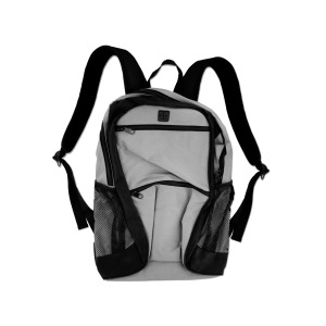 1 Pieces Per Pack Of poly canvas backpack gray with black trim/zipper ][wholesales purchase|hoodmat.com