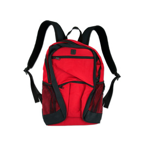 1 Pieces Per Pack Of poly canvas backpack red with black trim/zipper ][wholesales purchase|hoodmat.com
