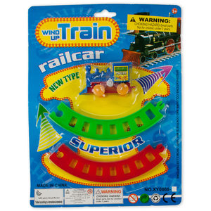 24 Pieces Per Pack Of Wind-Up Toy Train With Track Set ][Wholesales Purchase   Hoodmat.Com