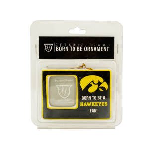 12  Pieces Per Pack Of  University Of Iowa Ceramic Picture Frame Ornament ][Wholesales Purchase Hoodmat.Com