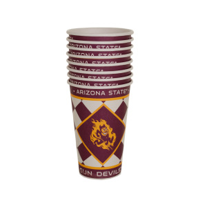 24  Pieces Per Pack Of  Arizona State Sun Devils Paper Cups Set ][Wholesales Purchase Hoodmat.Com