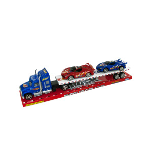 1 Pieces Per Pack Of Friction Powered Semi Truck &Amp; Race Cars Set ][Wholesales Purchase   Hoodmat.Com