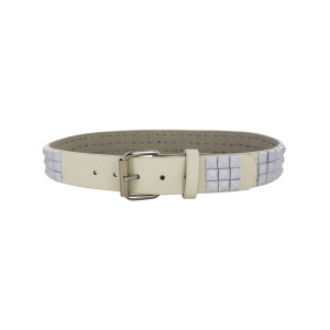 8 Pieces Per Pack Of Small White Pyramid Studded Belt ][wholesales purchase|hoodmat.com
