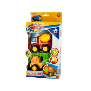 4 Pieces Per Pack Of Mini Construction Friction Truck Set ][Wholesales Purchase   Hoodmat.Com