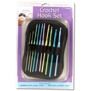 2  Pieces Per Pack Of  Aluminum &Amp; Steel Crochet Hooks Set With Case  ][Wholesales Purchase|Hoodmat.Com