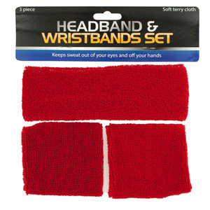 12 Pieces Per Pack Of Athletic Headband & Wristbands Set ][wholesales purchase|hoodmat.com