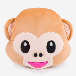 6 Pieces Per Pack Of Emoticon Monkey Face Plush Pillow ][Wholesales Purchase|Hoodmat.Com