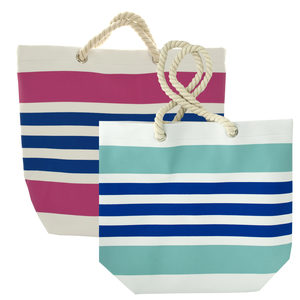 4 Pieces Per Pack Of Striped Tote Bag with Rope Handles ][wholesales purchase|hoodmat.com