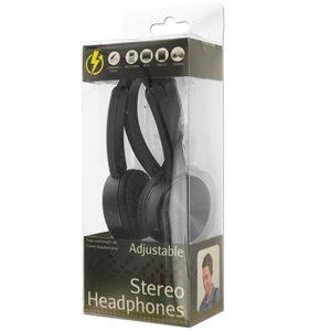 4 Pieces Per Pack Of Black Adjustable Stereo Headphones ][Wholesales Purchase Hoodmat.Com