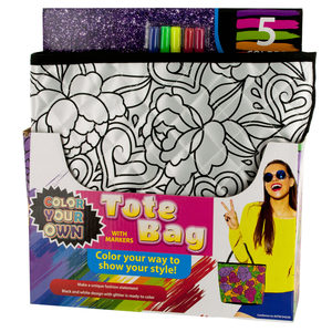 2 Pieces Per Pack Of Color Your Own Quilted Fashion Tote Bag With Markers][Wholesales Purchase Hoodmat.Com