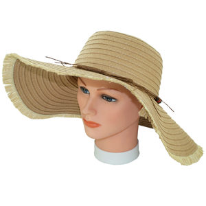 6 Pieces Per Pack Of Ladies Natural Color Sun Hat ][wholesales purchase|hoodmat.com